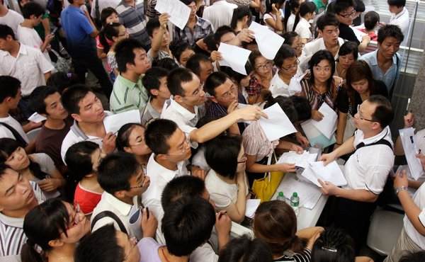 iPhone - People flooded Foxconn Technology with résumés at a 2010 job fair in Henan Province China NYT   1-22-12