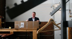 Mike Stewart boxed up the inventory left over after his going-out-of-business sale at Feather & Fly, a sporting-goods store in Chattanooga Tenn
