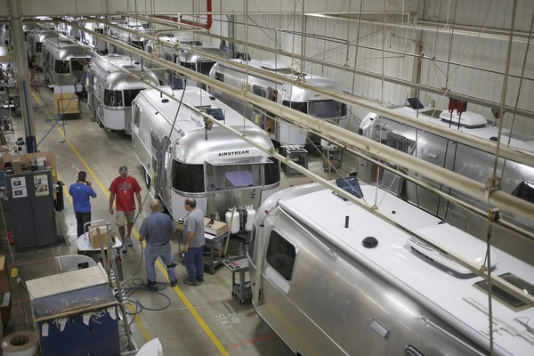 Production Of Airstream Trailers Ahead Of ISM Manufacturing Data