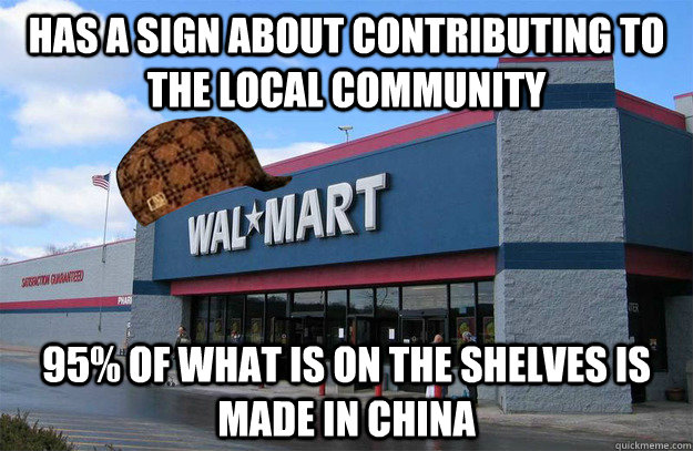 Walmart Made in china, Not Made in USA