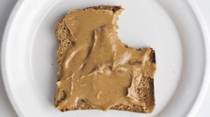 Bite of Peanut Butter Sandwitch
